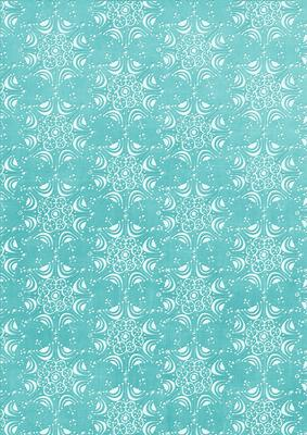 Pale Snowflake Teal A4 Backing Paper - CUP248803_10 | Craftsuprint