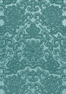dusky teal embossed glitter pattern a4 backing paper