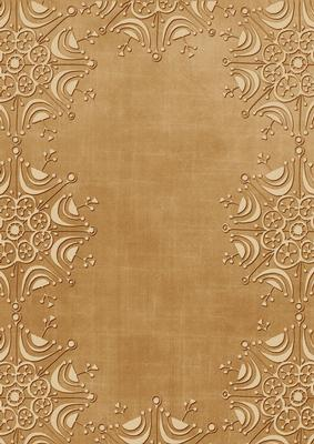 Vintage Tea Embossed Snowflake Border A4 Backing Paper