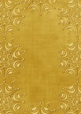 gold embossed snowflake border a4 backing paper