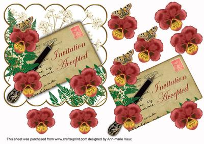 D red pansy ink saver invitation accepted 6in step by step d red pansy ink saver invitation accepted 6in step by step cup30781410 craftsuprint stopboris Gallery