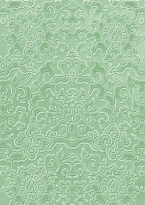 Mid Green Embossed Pattern Wallpaper A4 Backing Paper