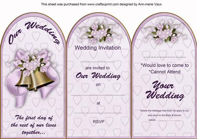 Lilac wedding bells wedding invitation rsvp tri fold card lilac wedding bells wedding invitation rsvp tri fold card cup39024210 craftsuprint stopboris Image collections