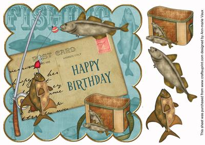 Teal fishing happy birthday 8in decoupage step by step teal fishing happy birthday 8in decoupage step by step cup41426310 craftsuprint bookmarktalkfo Gallery