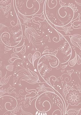 Dusky Pink Floral Lace Lights A4 Backing Paper Cup423079