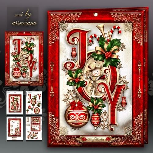 Christmas JOY Card Mini Kit - CUP738962_1641 | Craftsuprint