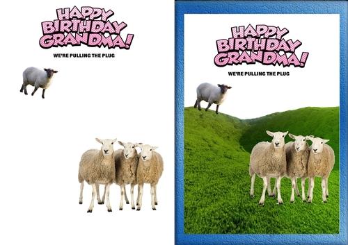 Sheep Birthday Card For Grandma Cup81337784013 Craftsuprint