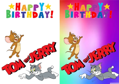 Tom And Jerry Birthday Card Cup81807484013 Craftsuprint