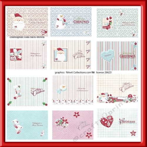 pack of 12 x a5 christmas card inserts  cup994343118