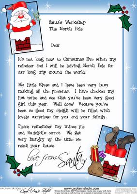 Girl's Letter from Santa - CUP25527_359 | Craftsuprint