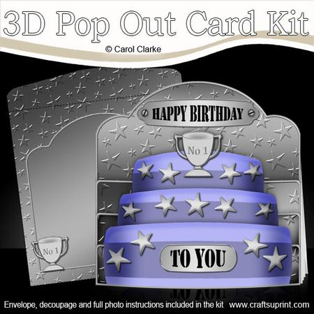 3d Male Birthday Cake Pop Out Card Kit Cup258257 359