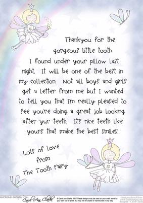 tooth fairy letters letter from the tooth cup31204 359 craftsuprint 13873