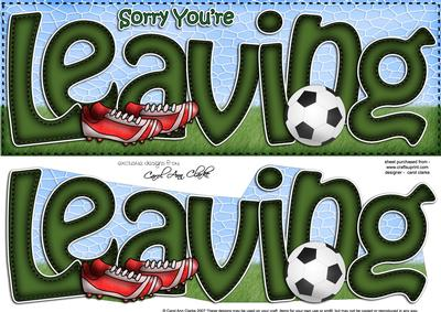 Sorry You\'re Leaving Large Dl with 3D Decoupage - CUP406921_359 ...