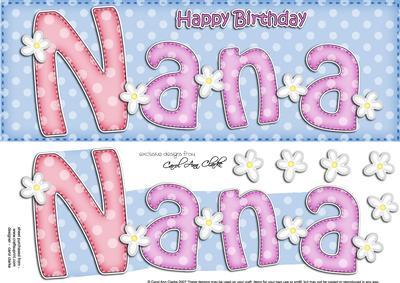 Large Dl Birthday Nana Card 3D Decoupage CUP408030359 – Nana Birthday Cards