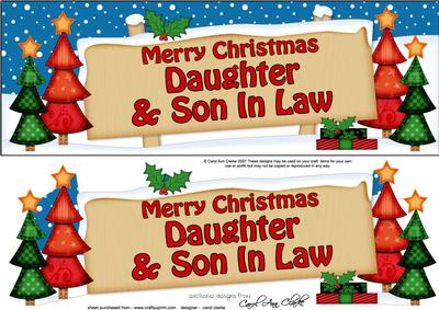 Xmas Daughter & Son in Law Trees Signpost Large Dl - CUP455459_359   Craftsuprint