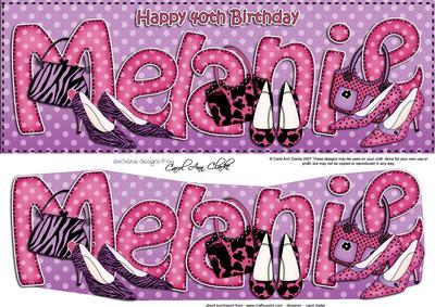 Large Dl 40th Birthday Melanie Shoes Amp Handbags 3d