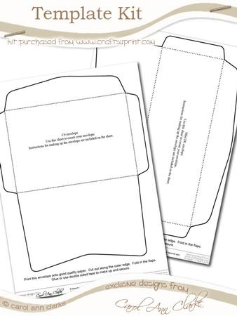 envelope template kit 2 sheets in the kit cup58779 359 craftsuprint. Black Bedroom Furniture Sets. Home Design Ideas