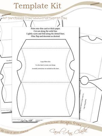 Pillow Box Template Kit - 3 Sheet Kit - CUP58785_359 | Craftsuprint