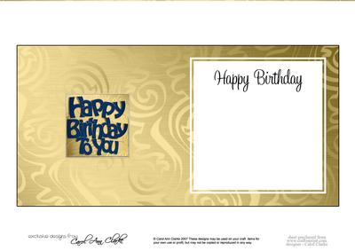 Happy Birthday Card Insert