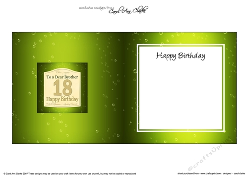 18th Birthday Brother Champagne Label Square Landscape