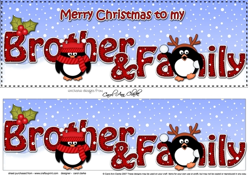 Merry Christmas Brother.Large Dl Merry Christmas Brother Family 3d Decoupage