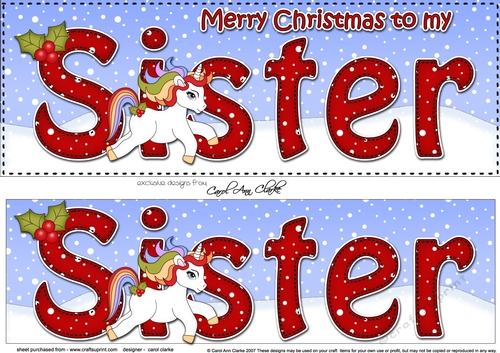 Merry Christmas Sister.Large Dl Merry Christmas Sister 3d Decoupage