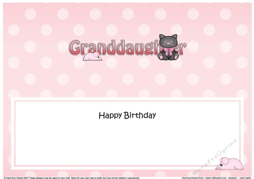 Large Dl Happy Birthday Granddaughter Insert Cup884901359