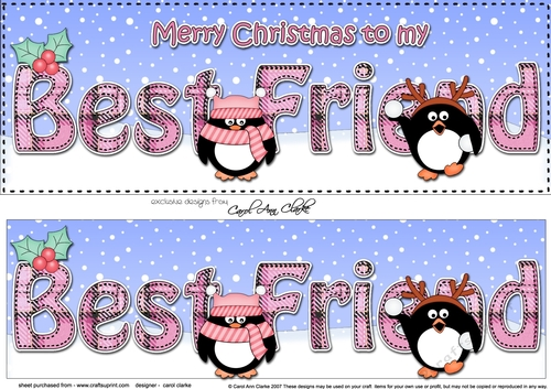 Merry Christmas My Friend.Large Dl Merry Christmas To My Best Friend 3d Decoupage