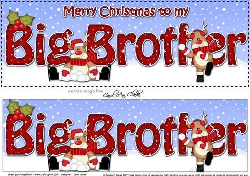 Merry Christmas Brother.Large Dl Merry Christmas To My Big Brother 3d Decoupage