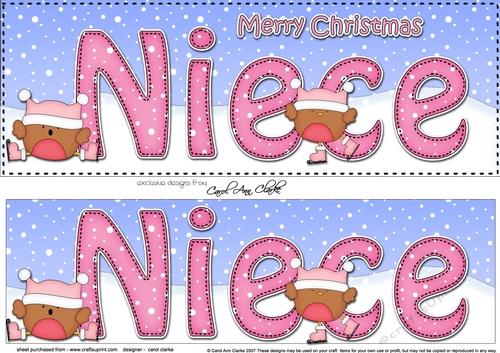 Merry Christmas Niece.Large Dl Merry Christmas Niece 3d Decoupage
