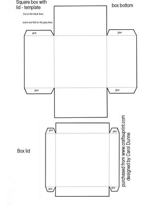 Square Box Template Cup20559 173 Craftsuprint