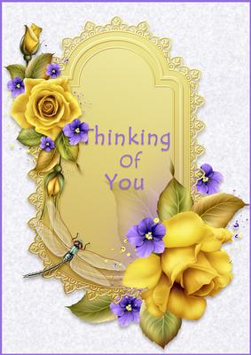 Card Creator - Thinking of You - Yellow Roses - CUP527751_1010