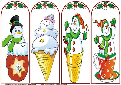 Set of Four Christmas Bookmarks CUP2362501209 – Christmas Bookmark Templates