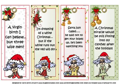 Collection Four Stella Christmas Bookmarks   CUP457901_1209 | Craftsuprint  Christmas Bookmark Templates