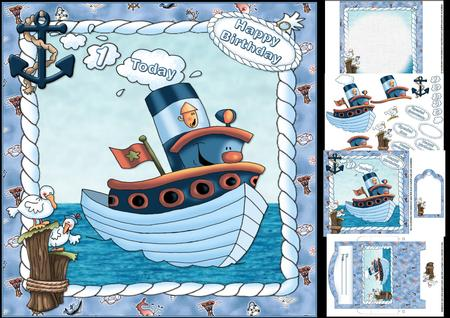 Happy birthday wishes 3 happy birthday wishes images and pictures - 8x8 Tug Boat Birthday Wishes Mini Kit Cup614284 1209