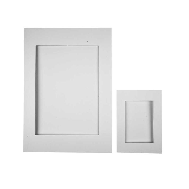 Passepartout Frames, Size A4+a6 , White, 230 g, 120 Asstd - CC23630 ...
