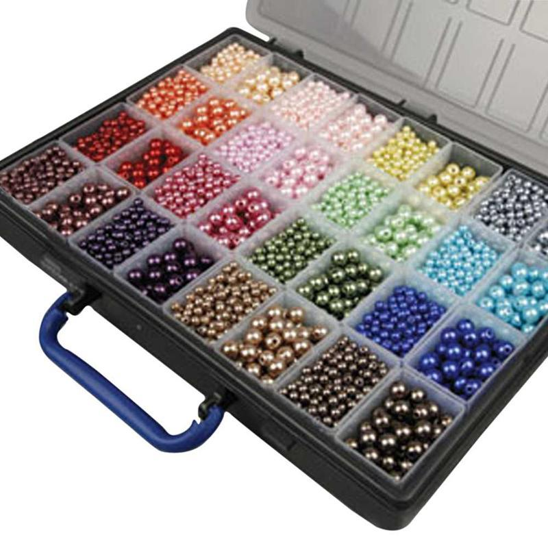 Jewellery Packaging And Bead Storage With: Assortment, Incl. Storage Box With 32