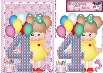 Happy Birthday 4 Year Old Girl