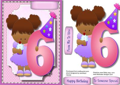 Happy Birthday to a 6 Year Old Girl CUP5797731398 – 6 Year Old Birthday Card