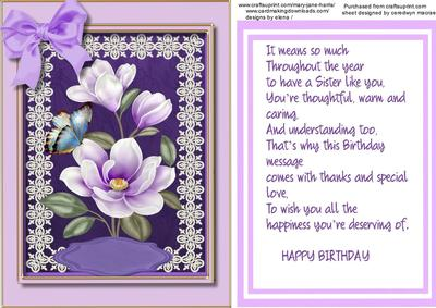 Birthday greetings sister cup6201081398 craftsuprint m4hsunfo Images