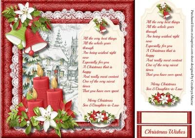 Christmas Wishes , Son & Daughter-in-law - CUP639431_1398 ...