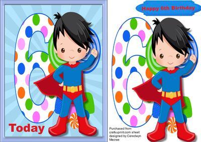 Happy 6th Birthday Superhero - CUP639735_1398   Craftsuprint (400 x 283 Pixel)