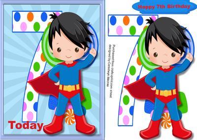 Happy 7th Birthday Superhero - CUP639739_1398   Craftsuprint (400 x 283 Pixel)