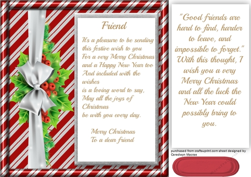 to friends at christmas  cup7296501398  craftsuprint