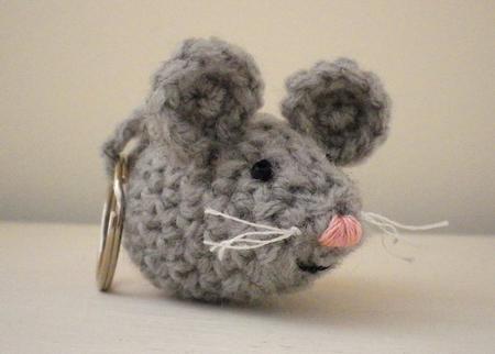 Keychain mouse pattern PDF Crochet Amigurumi mouse pattern | Etsy | 322x450