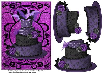 Admirable Purple Diva Birthday Cake Decoupage Cup234218 994 Craftsuprint Funny Birthday Cards Online Barepcheapnameinfo