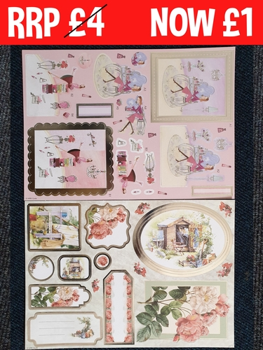 Foiled Decoupage Tea and Blooms  for cards and crafts