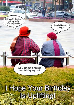 Card Creator Two Old Ladies Humorous Card Front
