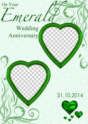55th wedding anniversary card