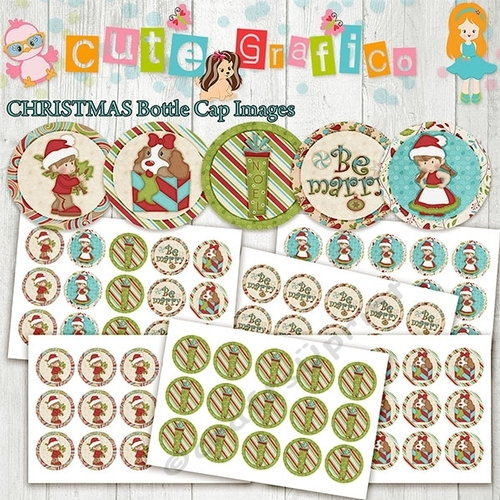 photo regarding Printable Bottlecap Images named Xmas Bottle Cap Shots, 1 INCH Spherical Photos - PRINTABLE Prompt Obtain- Inch Bottle Cap Picture/Electronic Collage sheet
